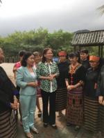 省妇联宣讲小分队与黎家姐妹共叙十九大 - 妇女联合会